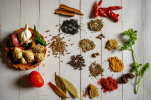 Different spices for Marination
